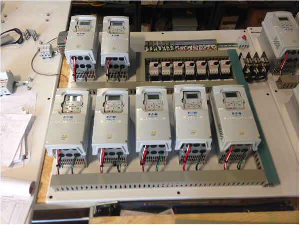 variable frequency drives (vfd) barrett electric co, inc a c condenser wiring we installed the control panels, wired the motors and drives, installed new data wiring, installed a new electrical entrance for the plant and successfully